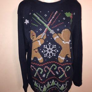 Light saber gingerbread men Christmas shirt